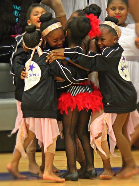 young dancers celebrating